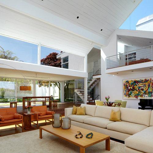 High Ceiling Modern Living Room