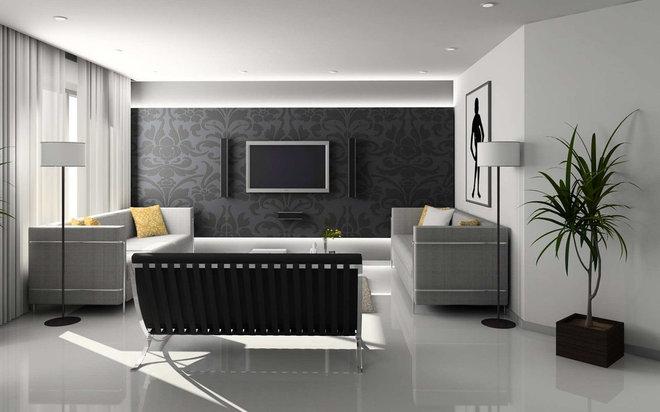 Modern Living Room by Rob Simone Interiors