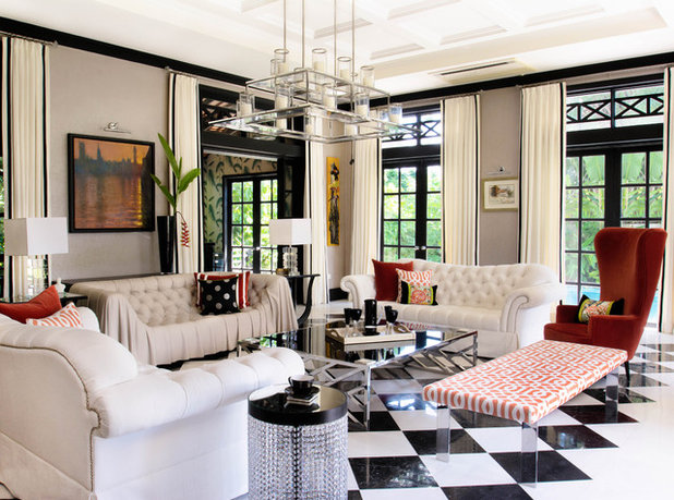 Contemporary Living Room by DESIGN INTERVENTION