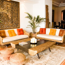 Asian Living Room by Maureen Mahon