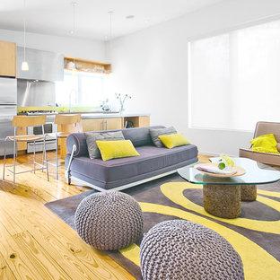 Esempio di un soggiorno moderno aperto