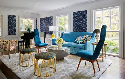 Stylish Living Room Happily Sings the Blues