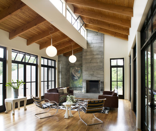 Farmhouse Living Room by Gustave Carlson Design