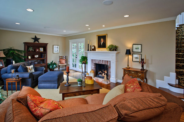 Traditional Living Room by Dennis Mayer, Photographer