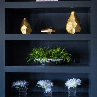 Inspiration for a modern living room remodel in Cedar Rapids