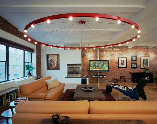 Industrial Living Room by Ira Frazin Architect