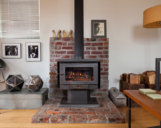 Brick Wood Stove Surround Ideas - Brick Wood Stove Surround Ideas Houzz