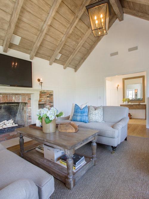 Reclaimed Brick Fireplace | Houzz