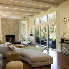 Eclectic Living Room by Square One Interiors