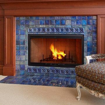 Iridescent Fireplace Surround