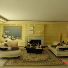 Contemporary Living Room by iris panagiotopoulou
