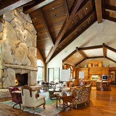 Mediterranean Living Room by Holland & Knapp Construction