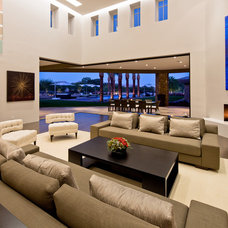 Contemporary Family Room by Kendle Design Collaborative