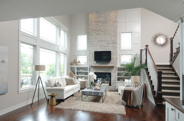 Transitional Living Room by Windsor Windows & Doors