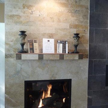 Irox Travertine Fireplace