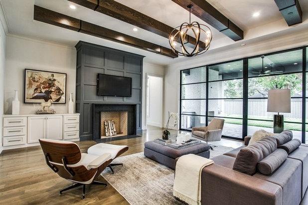 Transitional Living Room by Endurance Custom Homes