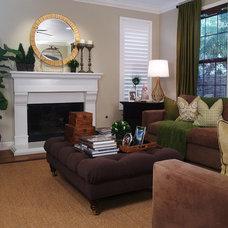 Contemporary Living Room by Jessica Bennett Interiors