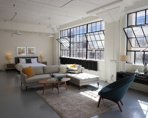 Zeitschrift Living And More 25 best industrial living room ideas remodeling photos houzz