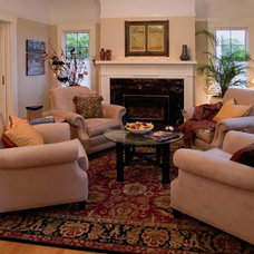Traditional Living Room by Emery & Associates Interior Design