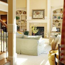 Living Room by M.J. Coates Custom Homes