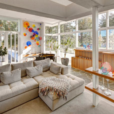 Contemporary Living Room by Lerman Construction Management Services