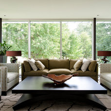 Contemporary Living Room by Barry J. Hobin and Associates Architects