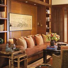 Tropical Living Room by RYAN ASSOCIATES GENERAL CONTRACTORS