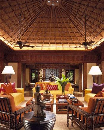 Tropical themed living room design ideas renovations photos for Tropical living room ideas