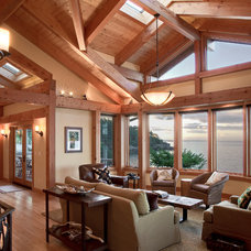 Rustic Living Room by Don Larkin, Architect, AIA, PLLC