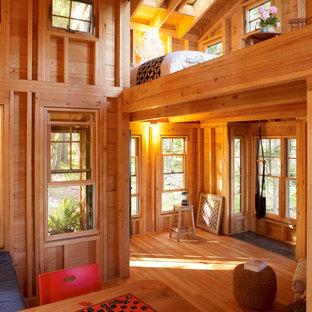 Foto di un piccolo soggiorno stile rurale