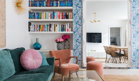 Houzz Tour: A Tiny Basement Flat is Boosted With Colour