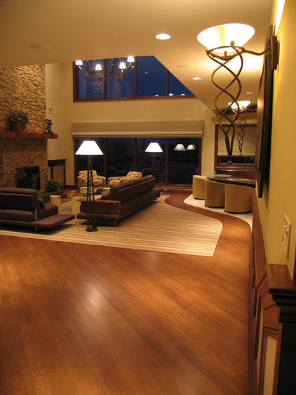Contemporary Living Room by David Landy ASID CID NY State