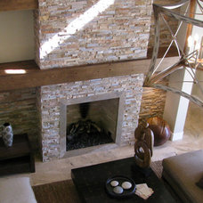 Contemporary Living Room by Rustic Brick and Stone