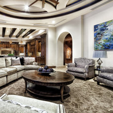 Contemporary Living Room by JAUREGUI Architecture Interiors Construction