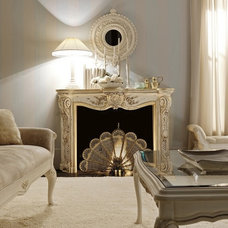 Traditional Living Room Italian Fireplace
