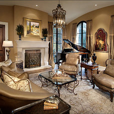 Traditional Living Room by Cynthia Porche Interiors