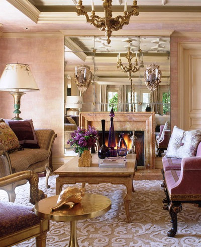 Traditional Living Room by Wendi Young Design