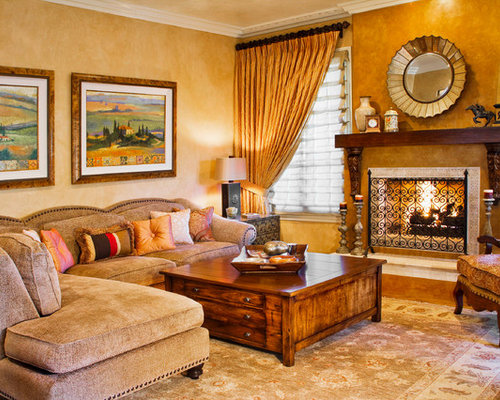 Warm living room ideas pictures remodel and decor - Pictures of decorated living rooms ...