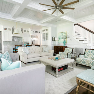 75 Beautiful Beach Style Living Room Pictures & Ideas | Houzz