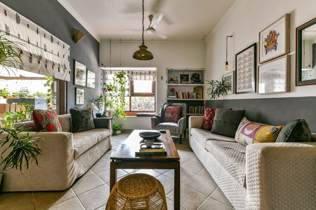 Transitional Living Room by Prashant Bhat Photography