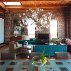Contemporary Living Room by Todd Richesin Interiors