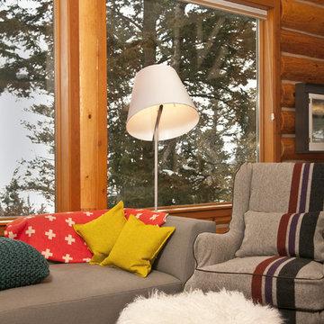 Jackson Hole Modern Log Cabin - Grace Home Design