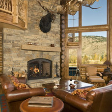Rustic Living Room by B&B Builders