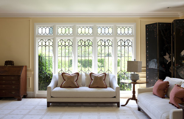American Traditional Living Room by Upscale Construction