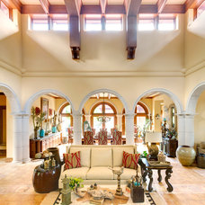 Mediterranean Living Room by Taggart Design Group