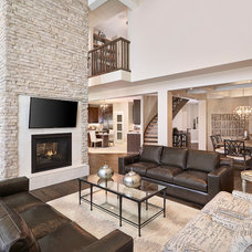 Transitional Living Room by Kimberley Homes