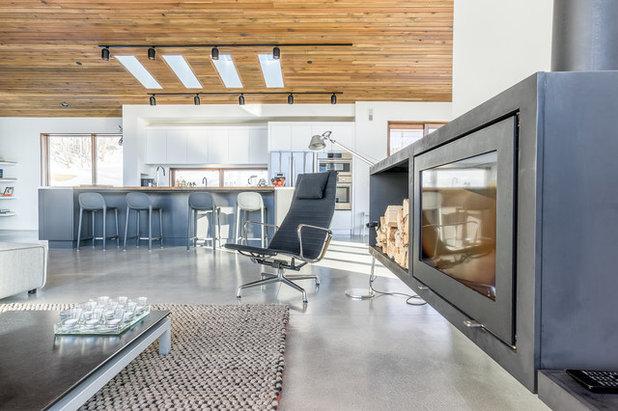 Contemporary Living Room by Park City Design Build