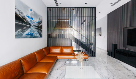 Houzz Tour: Architectural Lines and Patterns Dress up This Family Home