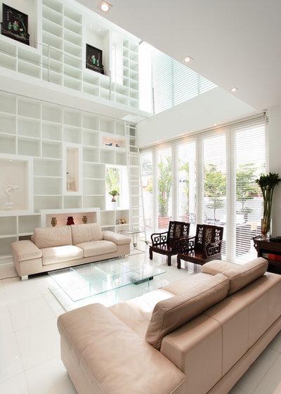 Contemporary Living Room by R interior Design
