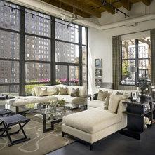 Industrial Living Room by jamesthomas Interiors